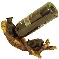 Bear Wine Bottle Holder,Playful,Cabin Decor,Wine Rack,Kitchen,Wildlife Creations
