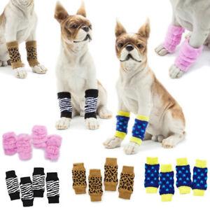 4 Pcs Dog Leg Warmer Socks Pet Puppy Cat Socks Protective Sleeves