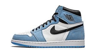 ✅ Air Jordan 1 Retro High White University Blue Black Sneakers AJ1