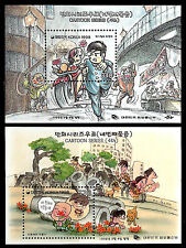 KOREA. Cartoons. 1998 Scott 1930-1931a. Two SS & stamps. MNH (BI#12)