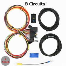 New 8 Circuit Fuse 12V Universal Wire Harness Muscle Car Hot Rod Street Rat Us