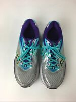 Saucony Everun Womens Sz 8 Gray Teal Purple Running Shoes Sneakers