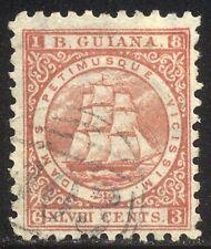 British Guiana #69 Used - 1866 48c Rose Red ($37)