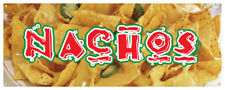 Nachos Banner Cheese Chips Mexican Food Concession Stand Sign 36x96