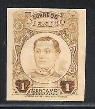 ubb70 Mexico 1916 Igancio Zaragoza color proof/essay, unwmk MNH