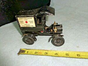 VTG American Red Cross 1905 Model T Die Cast Ertl Bank Part #9685
