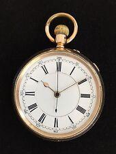 Reloj De Bolsillo centro Sec. Cronógrafo dos placas of14k Oro, c1900/MONTRE GOUSSET