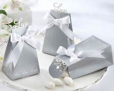24 Express Your Love Elegant Icon Silver Favor Box Wedding Favor Boxes