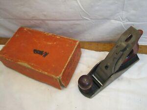Shelton No. 9 Smoothing Plane Wood Tool with Original Box 3 size