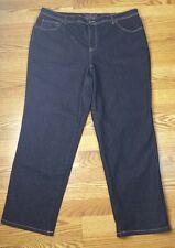 Gloria Vanderbilt 18 W Short Amanda Denim Jeans Dark Indigo Black  ~D~