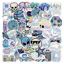 Violence Skull Creeper Holographic Waifu Black Triangle Group 3x Sticker Pack