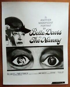 POSTER ART PRESS PHOTO THE NANNY Bette Davies (image 1)