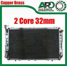 32mm 2Row Copper Brass Radiator NISSAN PATROL GQ Y60 2.8T 4.2L Diesel Auto 87-97