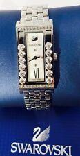 Cristales de Swarovski Reloj De Plata Cuadrado encantadora ref 5096682 Nuevo Con Papeles