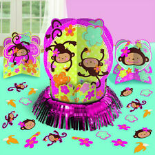 Monkey Love Jungle Animals Children's Birthday Party Table Decorating Kit