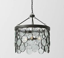 Pottery Barn Emery Indoor/Outdoor Recylced Glass Pendant Chandelier~New In Box