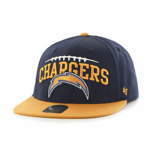 Kids NFL San Diego Chargers Embroidered Flat Brim Snapback Cotton Cap by '47