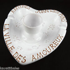 Céramique VALLAURIS, Roger CAPRON Bougeoir Coeur ANTIBES/JUAN LES PINS Peynet...