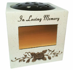 In Loving Memorial Flower Holder Vase Rose Bowl Grave Ornament Funeral Pot New