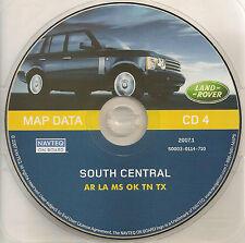 01 02 03 2004 LAND ROVER NAVIGATION MAP DISC CD SOUTH CENTRAL AR LA MS OK TN TX