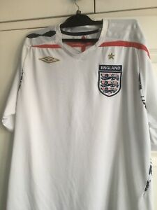 England Football Shirt By Umbro 2007 - 2009 Official Size L