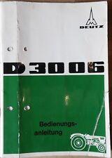 Deutz Schlepper 3006 Bedienungsanleitung