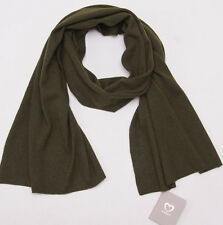 NWT $510 CRUCIANI OIive Green Extra-Soft 100% Cashmere Scarf Made in Italy
