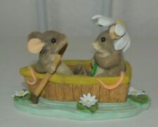 Charming Tails Rowboat Romance Figurine by Fitz and Floyd 83/801