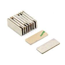 Adhesive 25 x 10 x 1.5mm N42 Neodymium Magnet - 2.2kg Pull (South) (Pack of 100)
