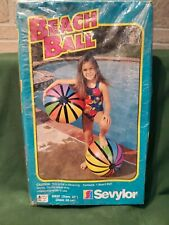 Sevylor 20 Inch Multi Color Beach Ball Striped Pool Toy Vintage Pool Summer New