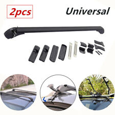 Car SUV Roof Rail Luggage Carrier Cross Rack Baggage Aluminum Alloy Black Curved