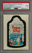 1973 Topps Wacky Packages Dopey Cream 1st Series White Back PSA 7 NM Card