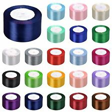 "25yards 50mm 2"" Satin Ribbons Bows Wedding Party Gift Box DIY Craft Decoration"