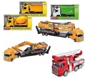 """11"""" Large Construction Vehicle Garbage Truck Lorry Friction Kids Toy Xmas Gift"""