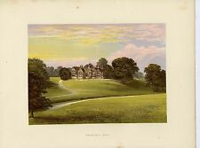 c.1880 Print of Bramhall Hall, Stockport, Cheshire
