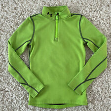 UA Under Armour Cold Gear 1/4 zip Pullover Fitted Boys Small Thermal Athletic