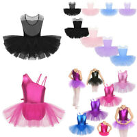 Girl Kid Ballet Dance Dress Gymnastic Leotard Tutu Skirt Ballerina Fairy Costume