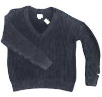 New Victoria's Secret PINK Sweater Xsmall Pullover V-Neck Gray