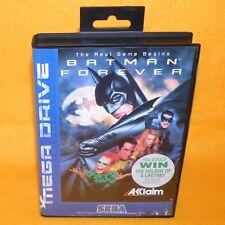 Vintage 1995 SEGA Mega Drive juego BATMAN FOREVER Cartucho de vídeo PAL Versión