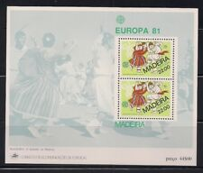 Portugal- Madeira  1981  Sc #74a   Europa  s/s  MNH  (41112)