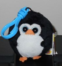 Ty Beanie Baby Ballz ~ Avalanche the Penguin (Key Clip ~ 2.5 inch) New Mwmt