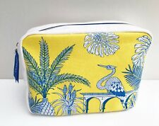 CLARINS Yellow Makeup Cosmetics Bag / Pouch / Case, Large Size, Brand NEW!
