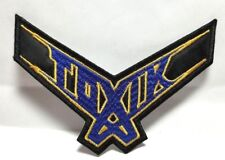 TOXIC ( LOGO BLUE & YELLOW ) EMBROIDERED  PATCH