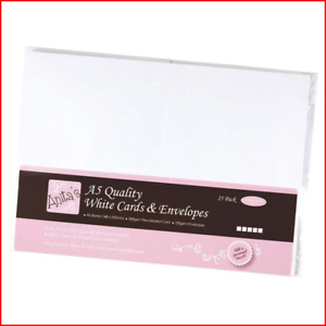 Anita's A5 Card and Envelope, Pack of 25, White