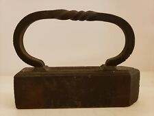 Antique Signed 1800's Tailor's Goose Cast Iron Victorian Twisted Handle Sad Iron