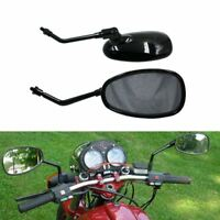 Universal BLACK Rearview Side Mirrors 10MM For Motorcycle ATV Dirt SCOOTER