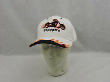 OCC Orange County Choppers Hat Cap White Blk Motorcycle Embroidered Patch Cotton