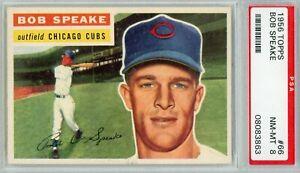 1956 TOPPS BASEBALL # 66 BOB SPEAKE   PSA 8 NM - MT