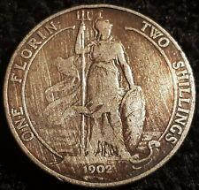 1902 Edward VII .925 Silver Florin Coin Lot F4