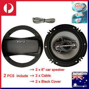 "2Pcs 6"" inch Car Coaxial Speaker 4 Way 650W Stereo Super Bass Music Audio Hifi"